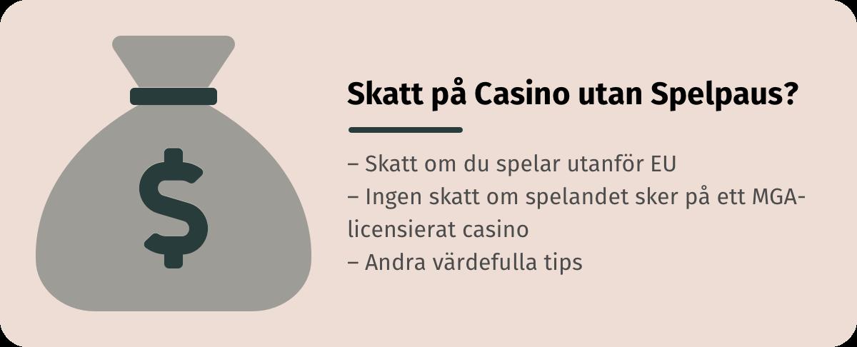 Förklarar om du behöver betala skatt eller inte på casino utan spelpaus