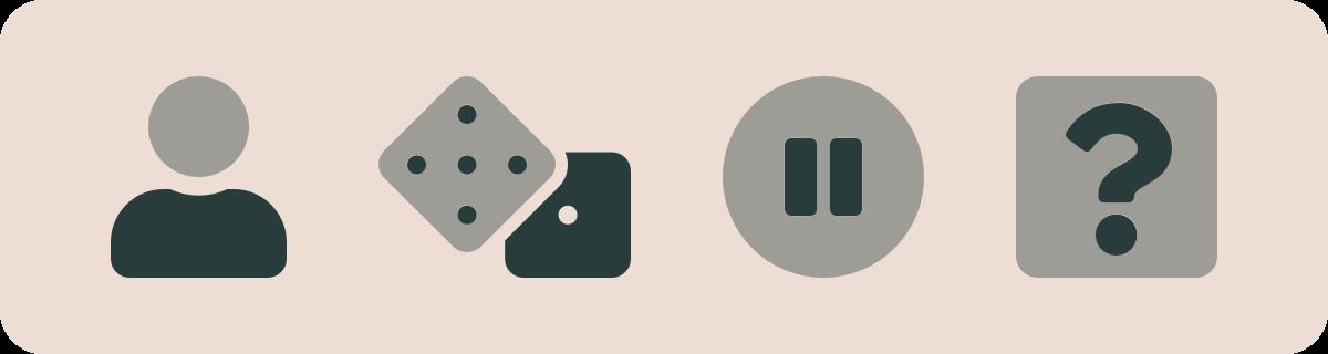 Symboler som visar Spelpaus